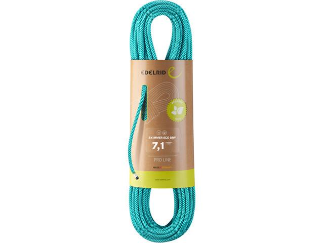 Edelrid Skimmer Eco Dry Rope 7,1mm x 60m, Turquesa